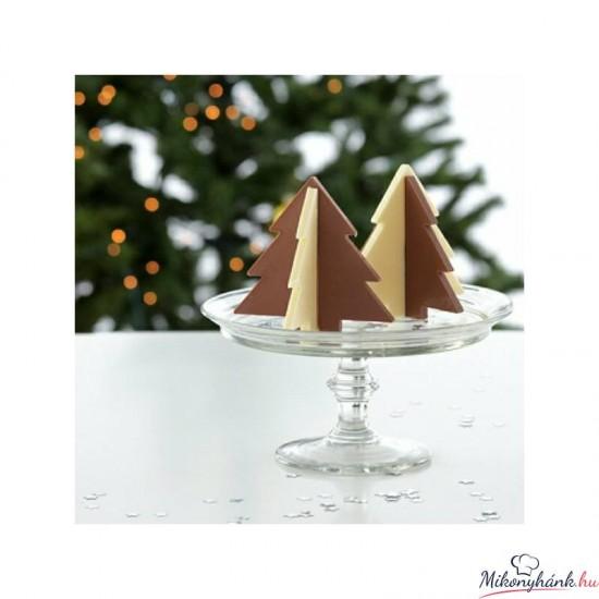 Fenyő szilikon csoki forma lapos