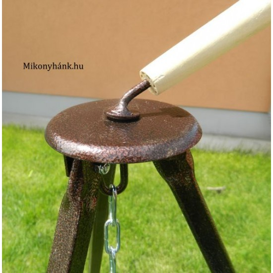 Teleszkópos bográcsállvány 180 cm (Fekete)