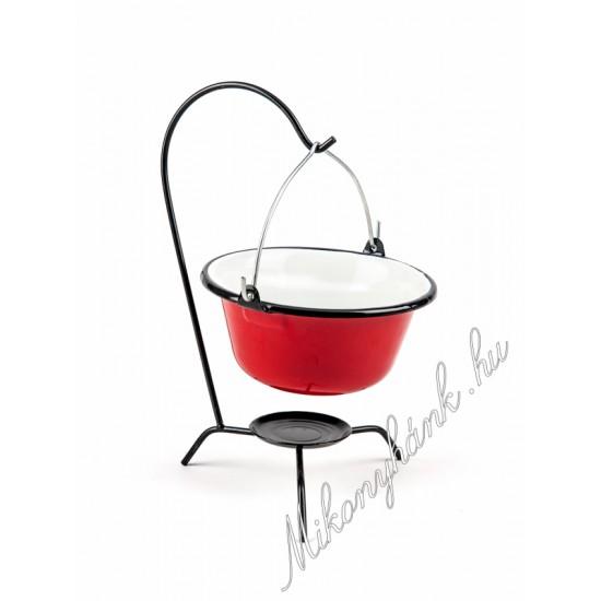Tálaló bogrács piros 0,8 liter (Bara)