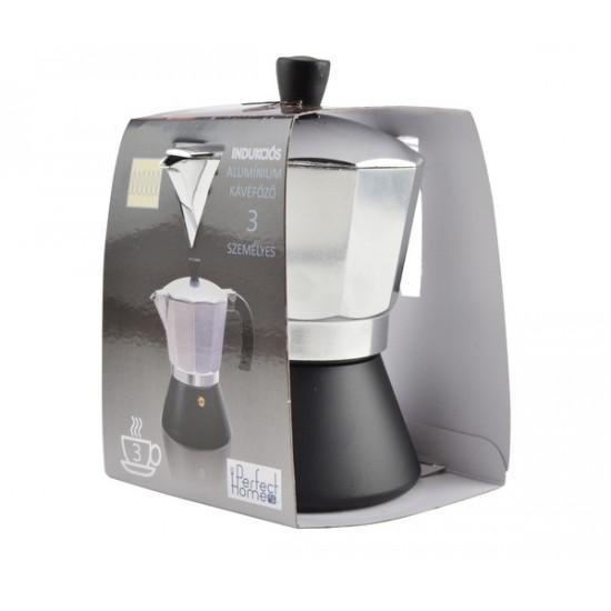 Kávéfőző 3 személyes fekete aljú (12171)