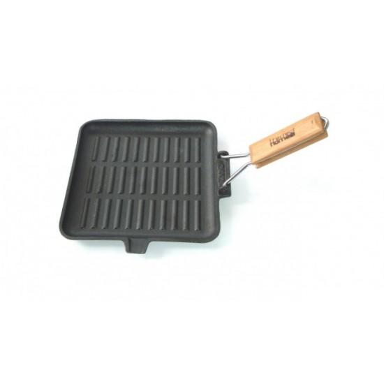 Öntöttvas grill serpenyő 24 cm x 24 cm (10376)