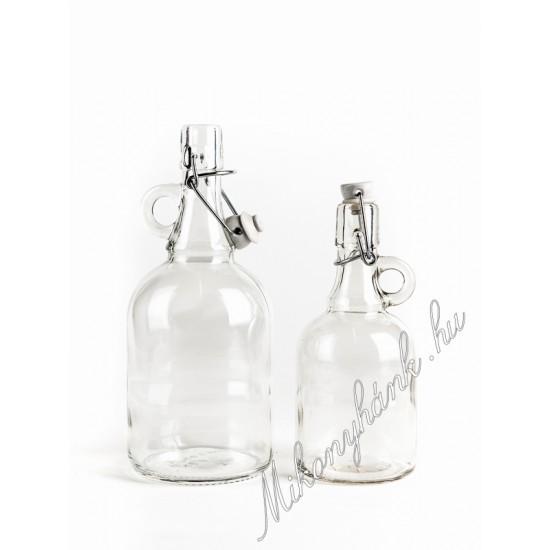 Csatos pálinkásüveg 1 liter